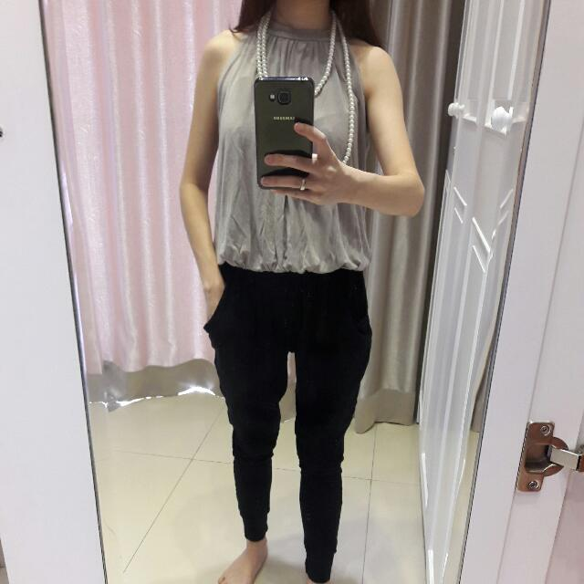 Jumpsuit Grey And Black