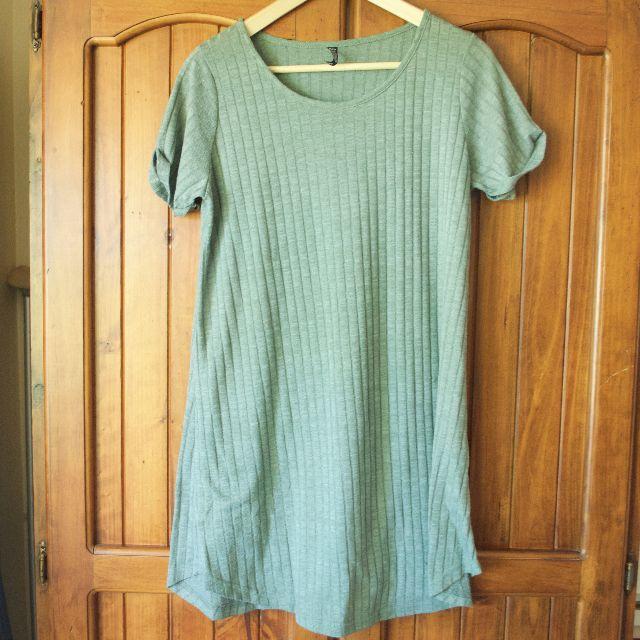 Khaki Cotton On Dress