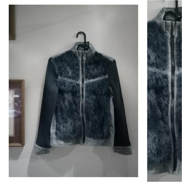 Korean Denim Fur Jacket
