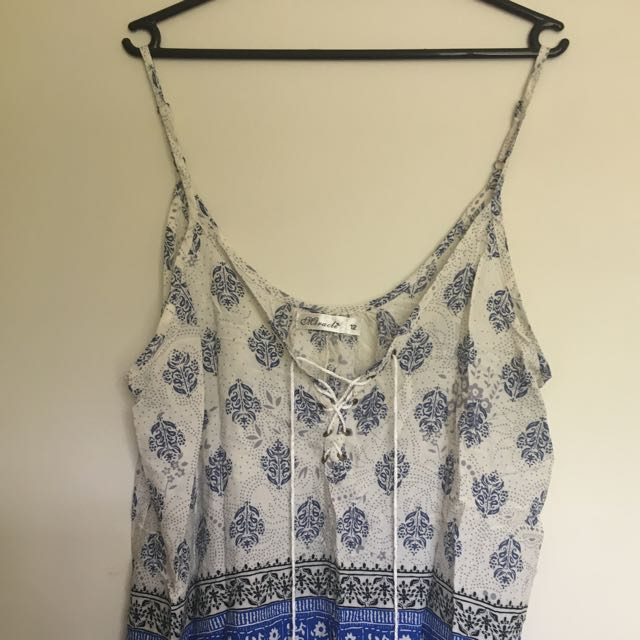Lace Up Singlet Top