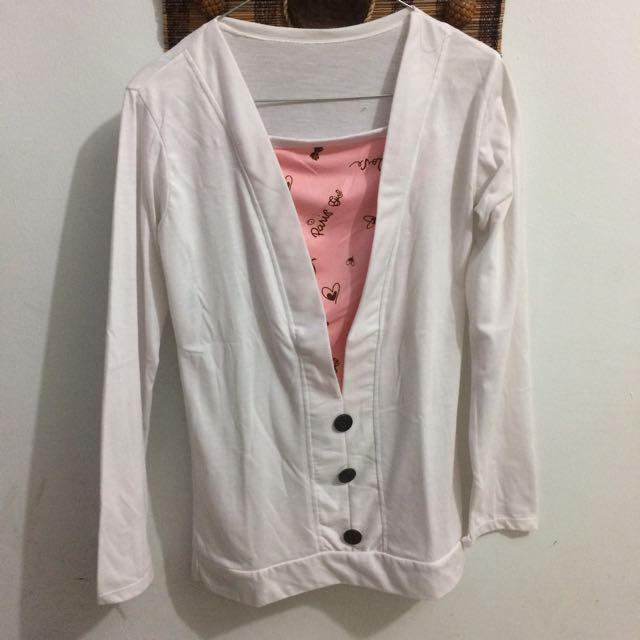 Long Sleeve Putih (Kaos Panjang)