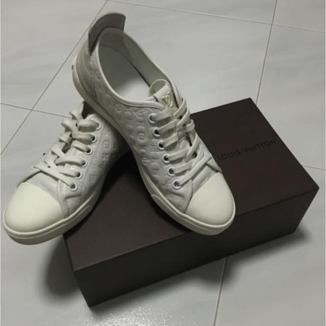 8ee878167f77 Louis Vuitton Calf Monogram Punchy Sneaker