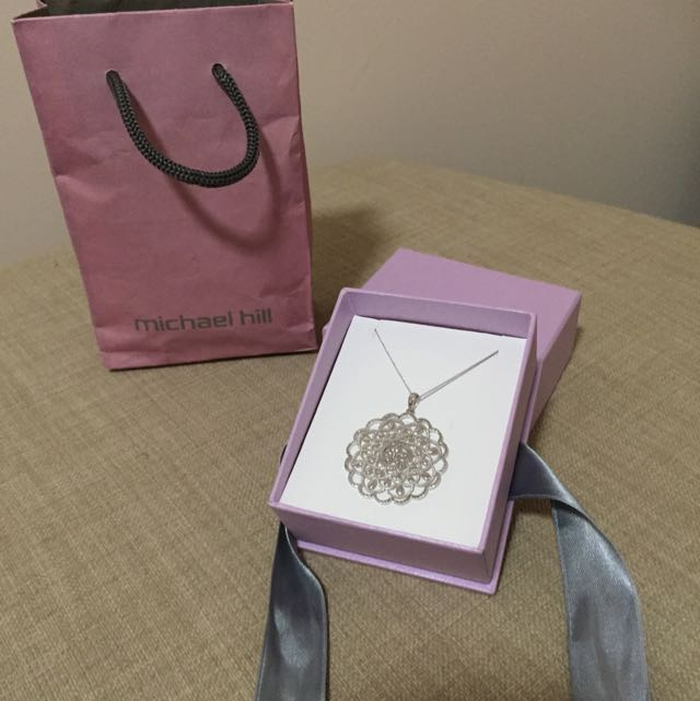 Michael Hill Sterling Silver Pendant and Necklace