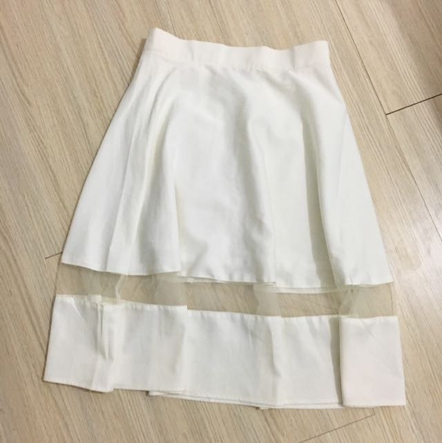NEW! Cloth Inc White Skirt