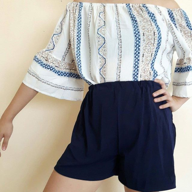 Off Shoulder And High Waisted Pair