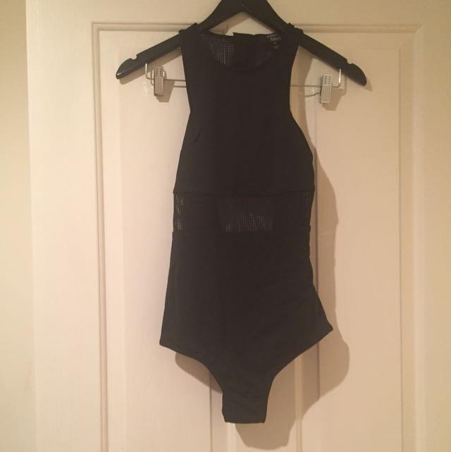 Paper Hearts Black Bodysuit