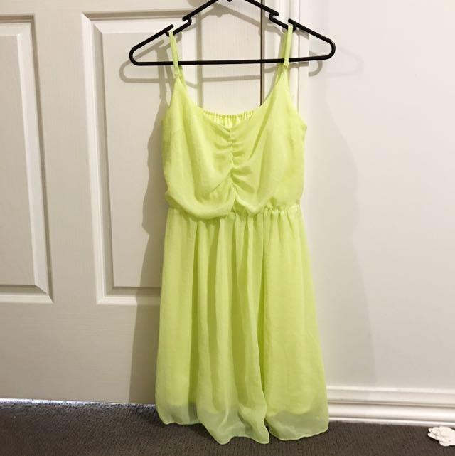 Pastel lime green dress
