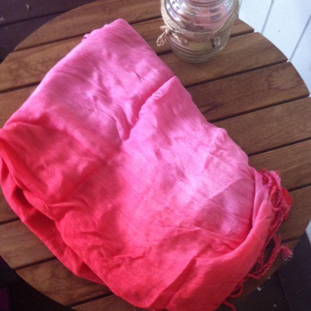 Pink Gradient Scarf/wrap