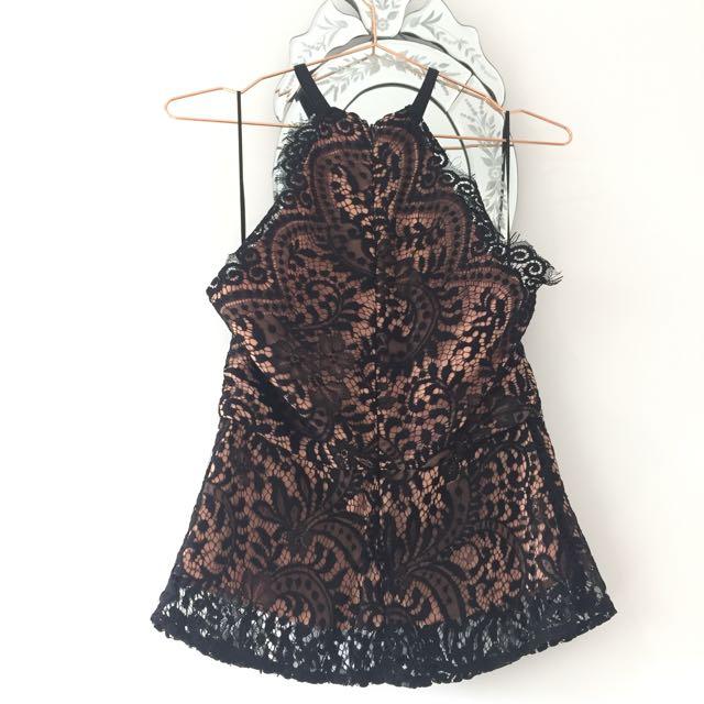Portmans Black Lace Top