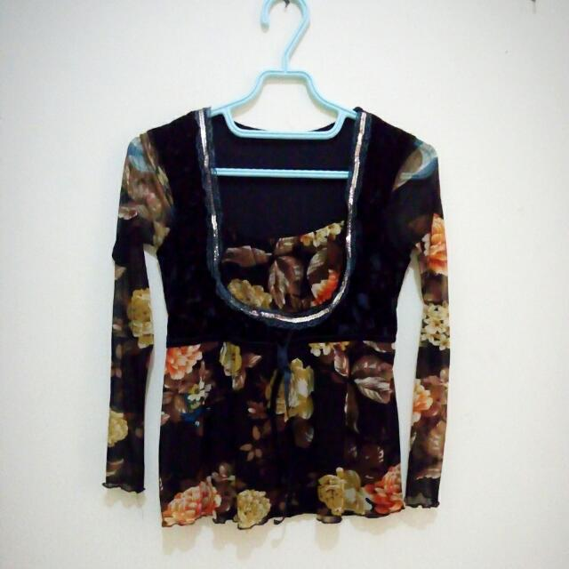 Preloved Blouse Flowery