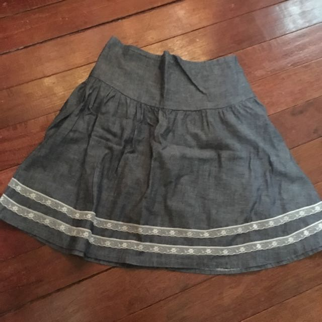 Preloved denim skirt