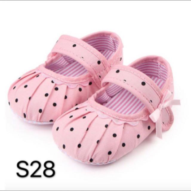 Prewalker Baby Shoes Dotty Pink