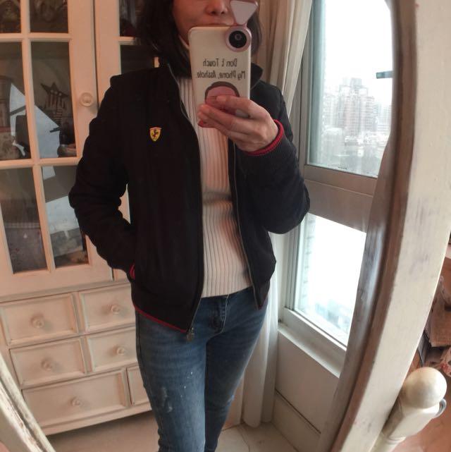 Puma黑色鋪棉外套