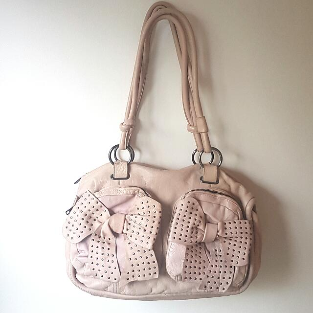 RARE MIMCO  'Walk The Plank' Bag Tote Leather In Pink RRP $379
