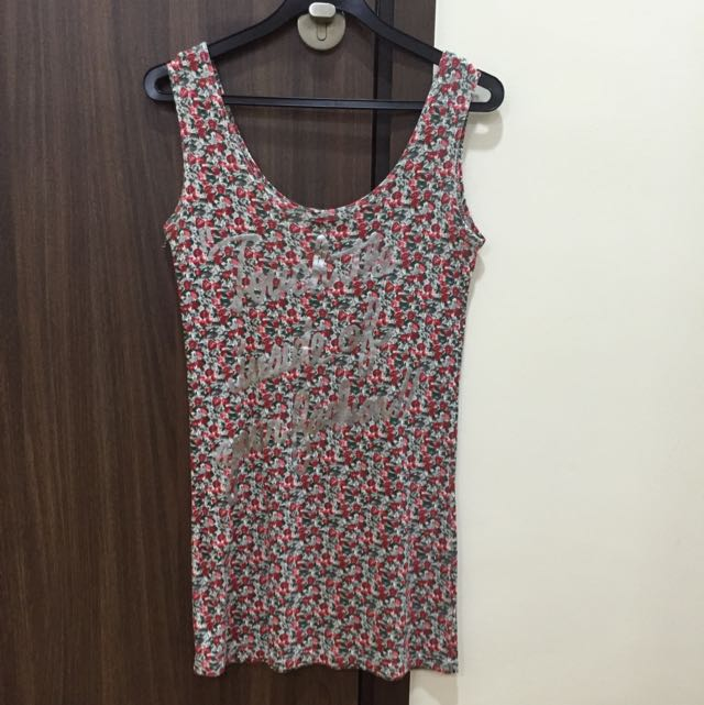 Rose Print Dress/Top