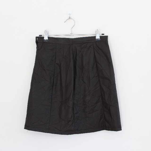 Secret Squirrel black leather skirt