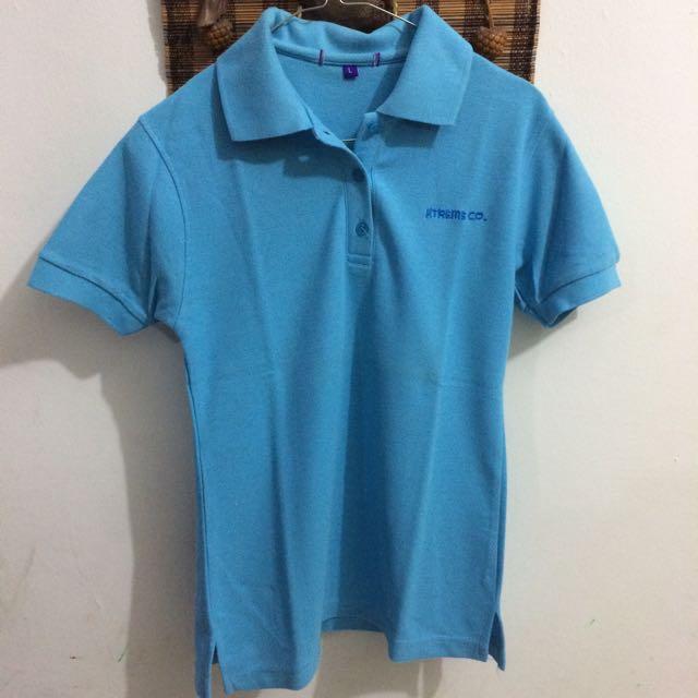 Short Sleeve Biru (Kaos Pendek)