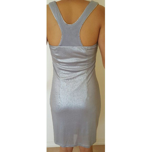 Silver Shimmer Dress Size Small