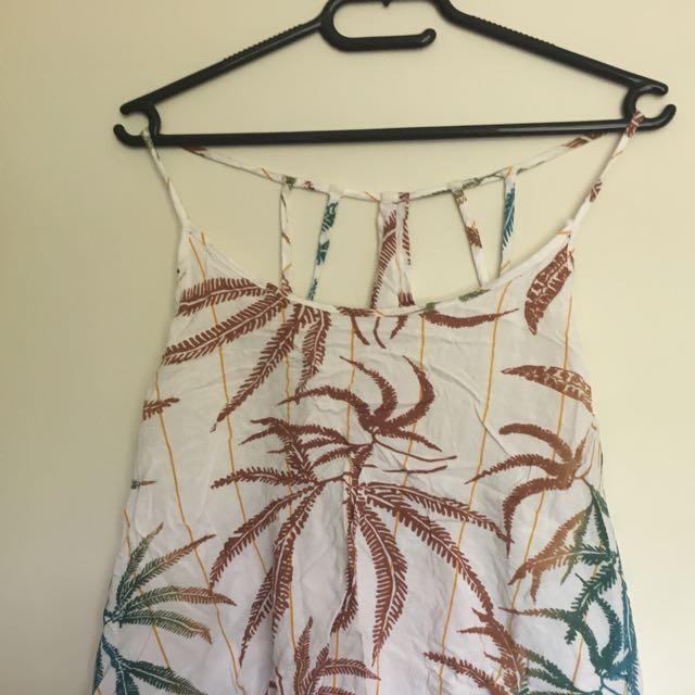 Size 14 Singlet Top Palm Pattern