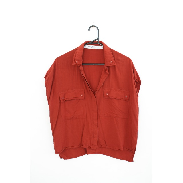 Something Else burnt orange blouse