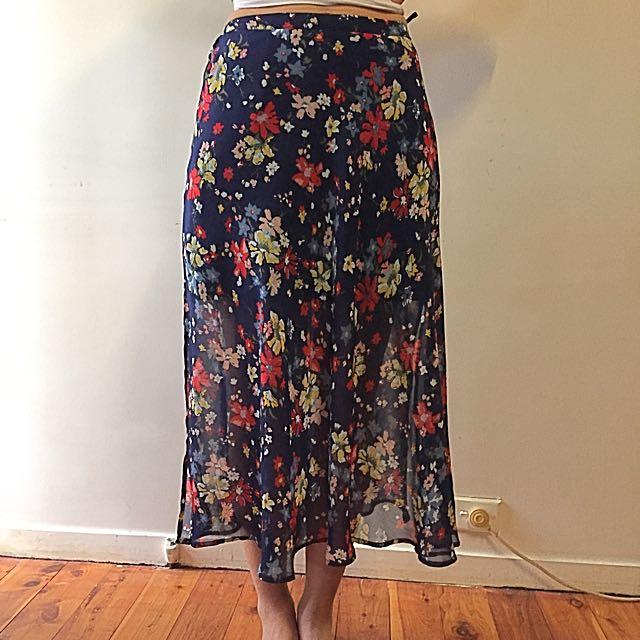 SPORTSGIRL | Vintage Look Floral Skirt: Size 10