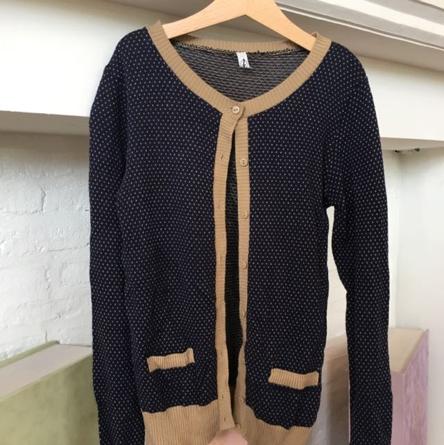 Stradivarius Cardigan Blue Dots