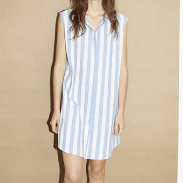 Stripe Shirt Dress Size 8
