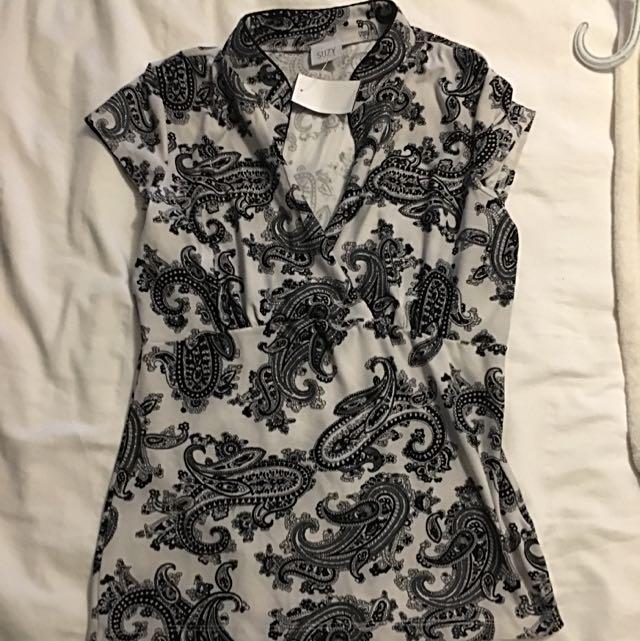 Suzy Shirt Asian Collar