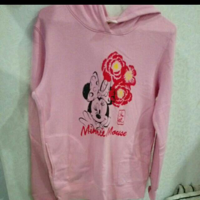 UNIQLO粉紅米妮帽T