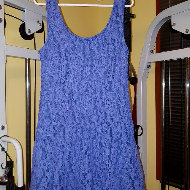 Valley Girl Lace Blue Mini Dress