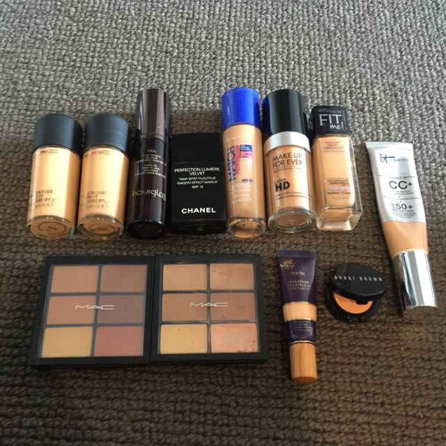 Various Foundations And Concealers