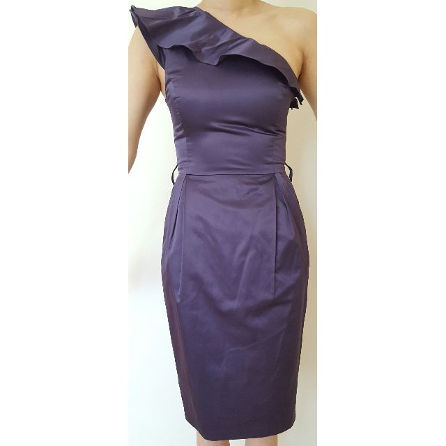 Wayne Cooper Purple One Shoulder Dress with pockets Size 0