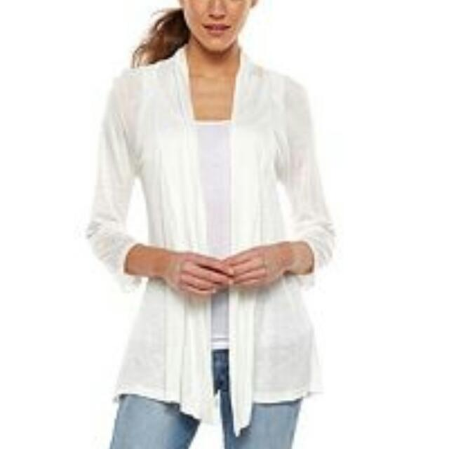 Fashionable White Cardigan