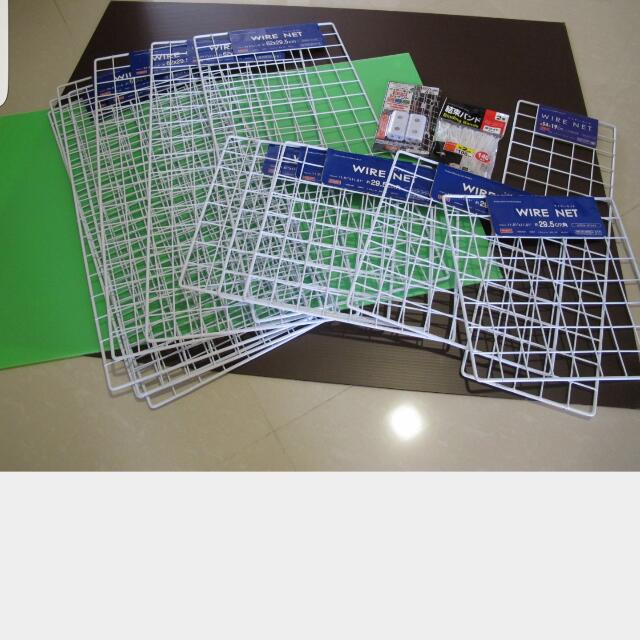 wired grid net or wall grid or wire net, Furniture, Home Decor on ...