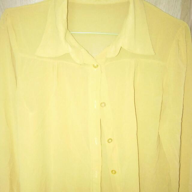 Yellow Long Sleeves - Chiffon💕