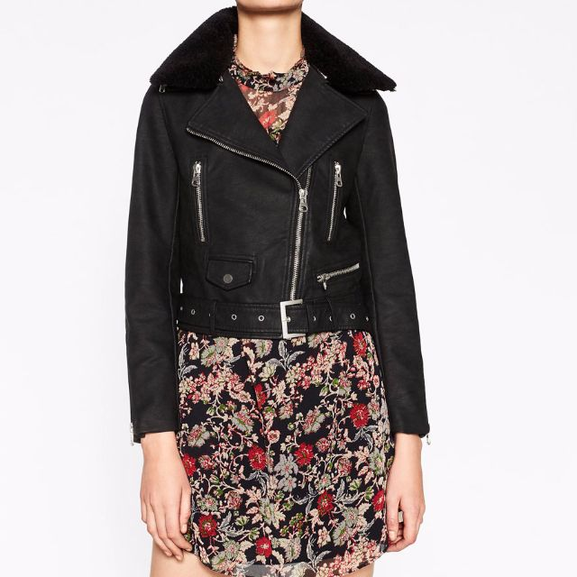 d6f49946 Zara SS17 LEATHER EFFECT JACKET U.P $119 (3046/239/800), Women's ...