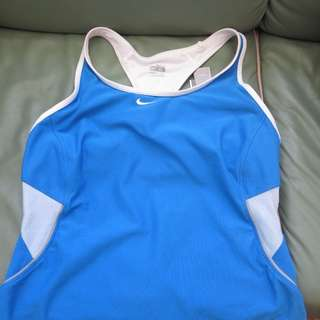 Nike Blue XL Racer Back Top New