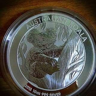 2013 Australian Silver Koala 10oz Pure 999 Silver Coin Bullion