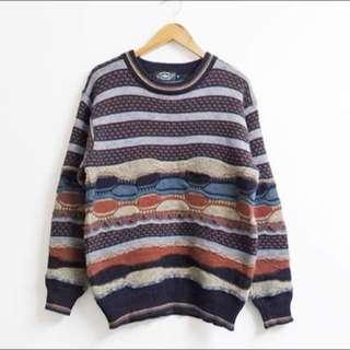 古著立體針織毛衣