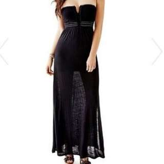 Guess Embroidered  Maxi Dress Xs