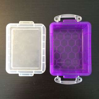 Small Purple Storage Bin