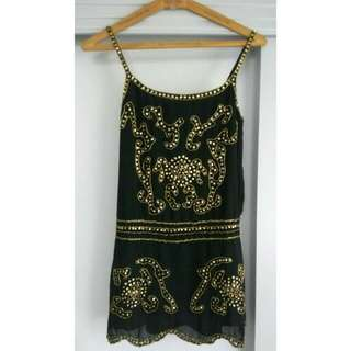 Gold Sequinned Party Dress (new)