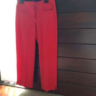RED WORK PANTS