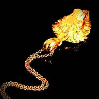 24k Gold Platted Lion Head Chain