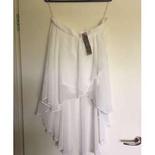 Lipsy UK 14 white skirt