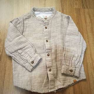 Walnut Brown Bottom Down Shirt