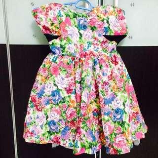 BN JAP Colourful Floral Party Dress