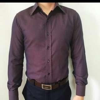 Slight Reflective Formal Purple Shirt