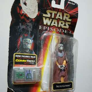 Hasbro  Star Wars Episode 1 The Phantom Menace Trade Federation Nute Gunray CommTech Chip
