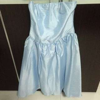 BN Baby Blue Party Dreas / Wedding Gown